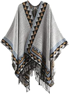 RkYAO Women's Cashmere Feel Ethnic Style Warm Cape Coats Scarf Wrap Shawl