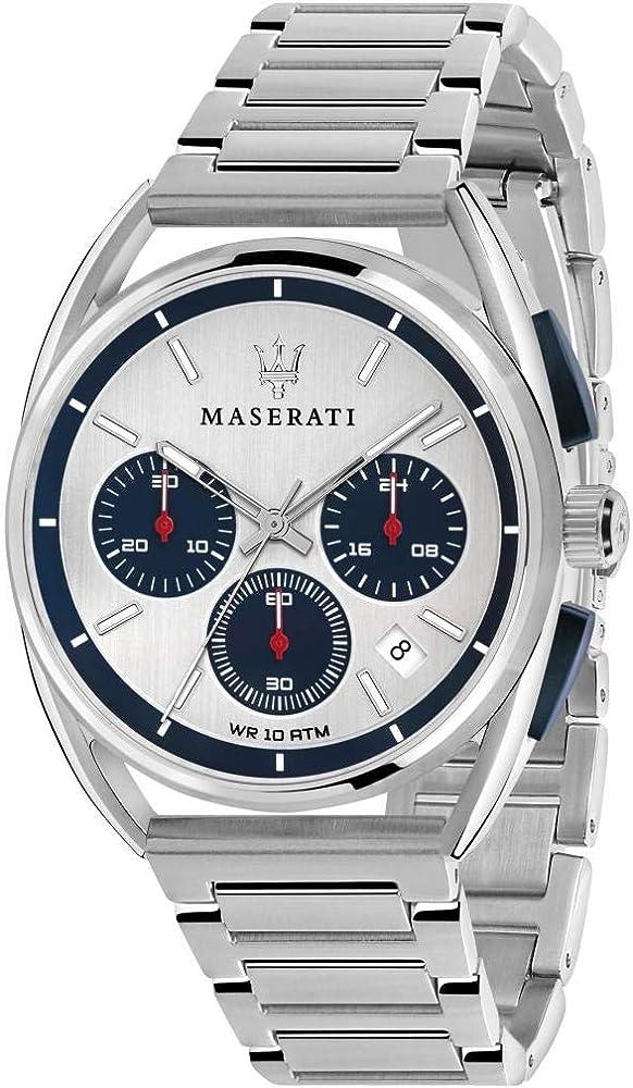 Maserati orologio cronografo  da uomo, collezione trimarano 8033288820284