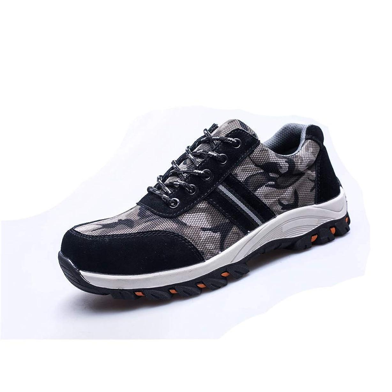 多分小人憲法働く 男性女性作業安全靴アンチスマッシング、アンチパンクチャシューズ通気性屋外スチールつま先シューズ産業用および建設靴、ハイキングシューズ大サイズ アウトドア登山 (色 : Black, Size : 35-EU)
