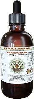 Lemongrass Alcohol-FREE Liquid Extract, Organic Lemongrass (Cymbopogon Citratus) Dried Stalk Glycerite 2 oz