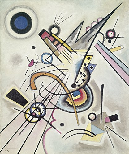 Artland Alte Meister selbstklebendes Wandbild Wassily Kandinsky Diagonale Wandtattoo Art 40 x 30 cm Kunstdruck Gemälde Bauhaus R0OG