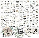 Sticker Hochzeit Gästebuch (164 Motive) - Vintage Hochzeit Aufkleber für Gästebuch oder Fotoalbum mit viel Liebe - Love Stickers für Scrapbook oder Bullet Journal - Wedding Deko mit Herz - Creme