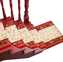 HAIPENG Stair Carpet Treads Pads Self Adhesive Riser Floor Step Mats Anti Slip Solid Wood Staircase Rugs Home (Color : 1 ...