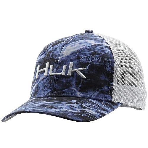 fec1d077ccaad9 Huk Men's Logo Camo Trucker Baseball Cap, Elements