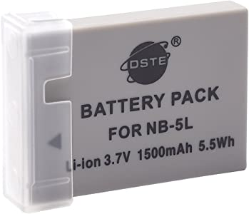 DSTE Rechargeable Li-ion Battery Compatible for NB-5L and Canon PowerS...