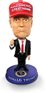 President Trump Bobblehead MAGA Hat 45 2020 Re-Election Classic Red Tie and Thumbs Up for Car, Desk, Office (Small)