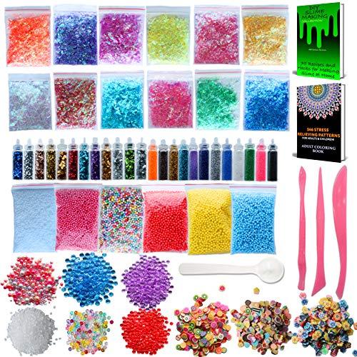 CozYours Slime Supplies Kit, Paquete de 68:...