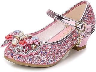 [ウイン] 女の子 ドレスシューズ ピアノ発表会靴 滑り止め フォーマル靴 シングルシューズ ハイヒール パフォーマンスシューズ 踊り靴
