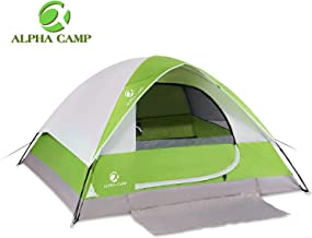 ALPHA CAMP 2-4 Person Camping Dome Tent with Carry Bag,...