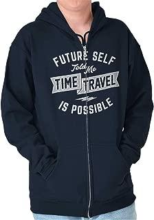 Future Time Travel Possible Funny Nerd Geek Zip Hoodie