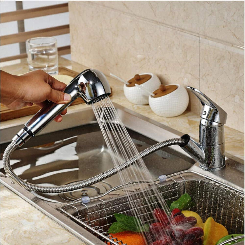 Küchenarmaturen herausziehen 360-Grad-Schwenker-Spülbecken-Hahn-Wasser-Einsparung-Beige mit Punkt-Bassin-Kran-Mischer-Messinghahn