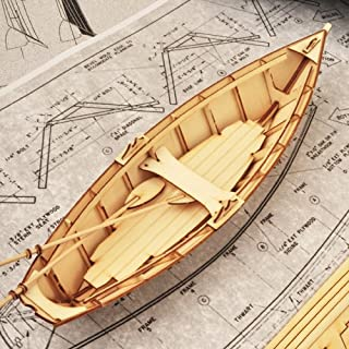 Dory Boat Wooden Model Construction Kit 3D Woodcraft by YongModeler