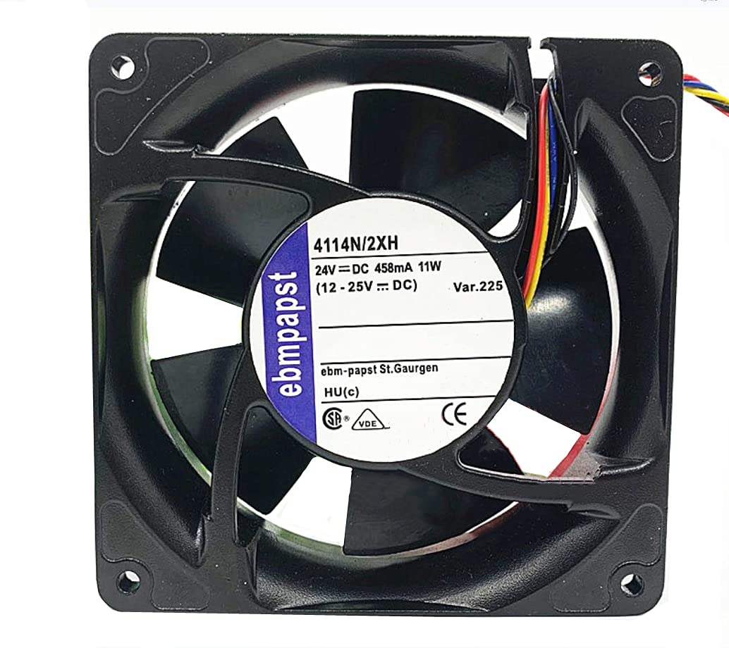 4114N 2XH ebmpapst 24V 458mA 11W Inverter 12CM 4-Wire Cool Our shop most popular Chicago Mall 12038