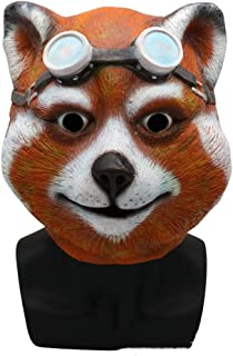 Halloween Animal Mask Hood Cute Civet Cat Masquerade Show Props Novelty Costume Party Latex Mask
