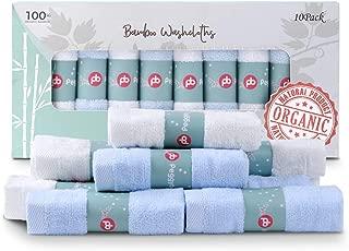 "Baby Washcloths, 100% Organic Bamboo Baby Bath Washcloth Face Towels, Soft Absorbent Newborn Towel Set for Boys & Girls, 12""x12"" (10 Pack)"