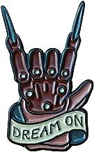 Crazy Amazing Freddy Krueger Dream On Bladed Leather Glove 1.25