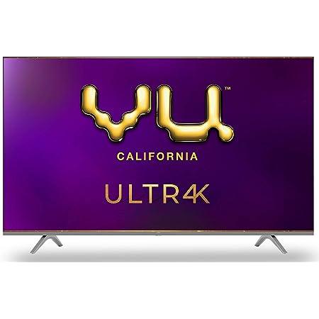 Vu 126 cm (50 inches) 4K Ultra HD Smart Android LED TV   With 5-Hotkeys 50UT (Black) (2020 Model)