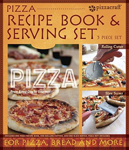 Pizzacraft Pizza-Rezeptbuch und Servier-Set, mehrfarbig, 6.35 x 26.29 x 30.73 cm, PC0221