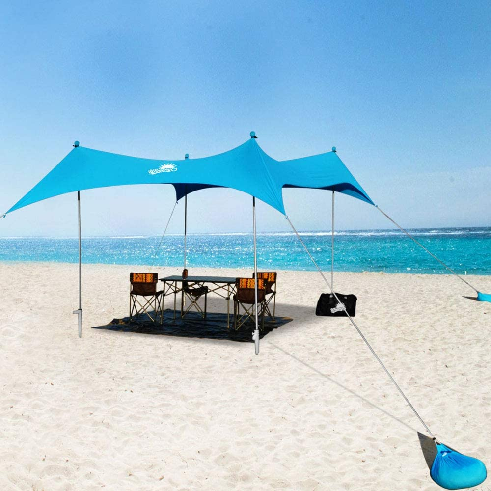 WINNINGO Beach Sunshade Upgraded Japan's largest assortment 10' x Sun Family Tulsa Mall Large 9' Shad