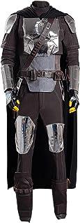 Bounty Hunter Rompers Overall Costume Props Cosplay Bodysuit Outfits Verhero Boys Halloween 3D Bodysuit with Helmet Cloak