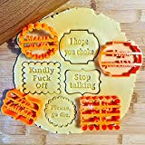 AFXOBO 4 Pcs Cookie Molds, With Good Wishes...