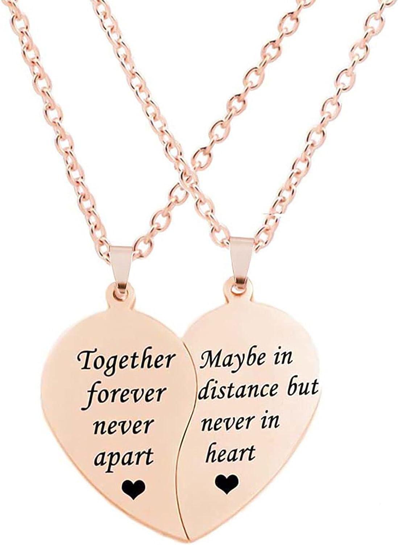 MJartoria Dallas Mall BFF Necklaces for Virginia Beach Mall 2 Split 1 Weirdo Heart Engraved Weir