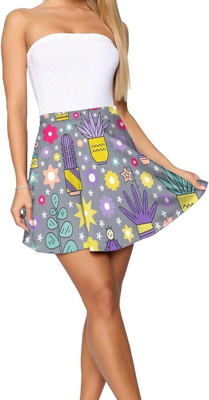 JJCSTE.C Burger Pattern Women's Skater Skirt Sexy Short Skirt