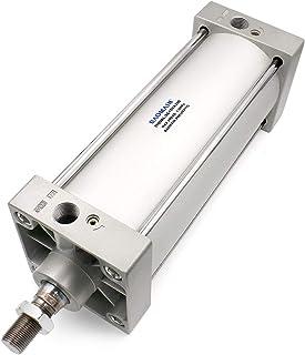 Baomain Pneumatic Air Cylinder SC 100 x 200 PT1/2; Bore: 4 Stroke: 8; Screwed Piston Rod Dual Action