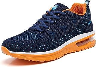 TSIODFO أحذية التنس النسائية وسادة الهواء سهلة الارتداء, (835 Blue Orange), 36 EU