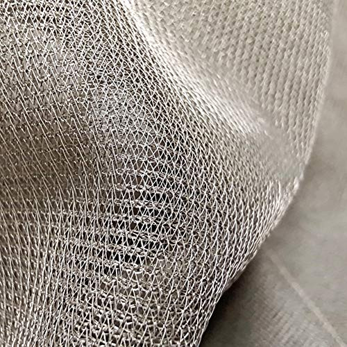 PHBSF Ultradünnes Atmungsaktives Silberfaser-Strahlenschutzgewebe EMF/RFID/EMI/RF-Blockierungsmaterial Silberleitendes Gaze-Netz Für Vorhangkleidung(Size:1.5 * 5m)