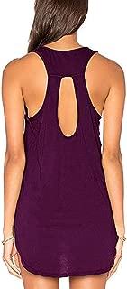 Yucharmyi Women's Sexy Backless Tops Tunic Tops Yoga Shirt Knit Tank Tops Casual Shirts