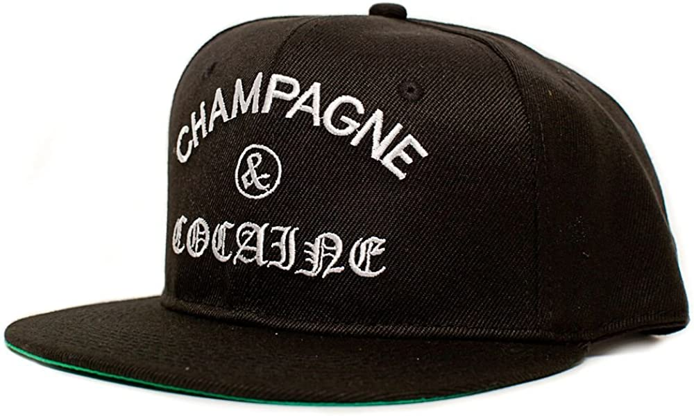 Champagne Cocaine Embroidered Louisville-Jefferson County Mall Unisex-Adult New color One-Size Black Hat