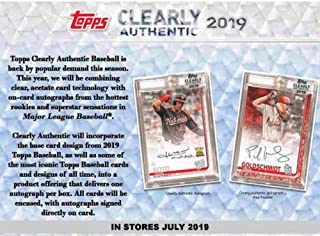 2019 Topps Clearly Authentic Baseball Hobby Box (1 Pack/1 Autographed Card)