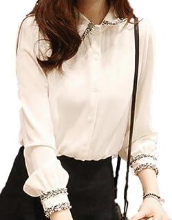 おしゃれ 大人 シャツ ブラウス レディース 長袖 トップス ワイシャツ きれいめ ゆったり 薄手 七分袖 就活 カラー 白 サイズ 5