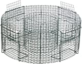 Bird trap 75 cm | quick and easy catch, ready for use | time-saving multiple catcher with 4 catching compartments | live catch | trap for pigeons, magpies, ravens, crows, sparrows
