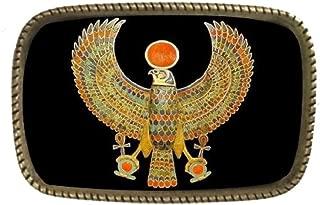 Ancient Egyptian Hieroglyphics Thunderbird Brass Belt Buckle Made In The USA