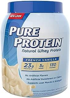Pure Protein 100 % Whey Protein, Vanilla Cream, 1.6 Pound Tub