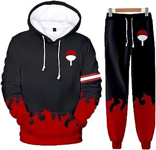 NARUTO 3D Print Unisex Hoodies+ Sweatpants Uchiha Itachi Suits Mens Womens Anime Hooded Sweatshirts Tracksuits