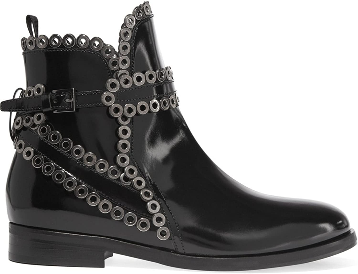 TDA Women's Fashion Gladiator Leather Casual Ankle Boots