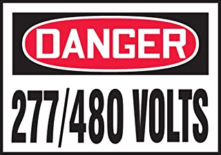 Accuform LELC161VSP Adhesive Vinyl Safety Label, Legend