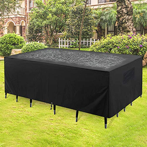 KaufPirat Premium Tarpaulin Outdoor Garden Furniture Cover 140x80x80 cm Table and Chair Dust Cover Waterproof Patio Cover 600D Oxford Fabric Bordeaux