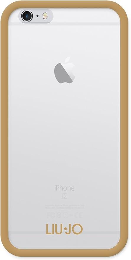 Liu Jo LJ6FRAMEG Custodia Semirigida per iPhone 6/6S, Oro: Amazon ...
