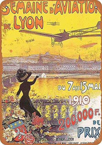 CHUNZO Aviation Expo Lyon France muurteken creativiteit gepersonaliseerde metalen plak kunst vintage decoratie blad handwerk hangende poster cafe bar garage