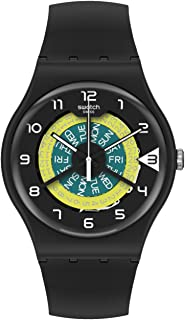 Swatch Unisex_Adult Quartz Plastic Strap, Black, 20 Casual Watch (Model: SUOB732)
