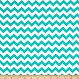 Santee Print Works 0327421 Chevron Turquoise Fabric by the Yard