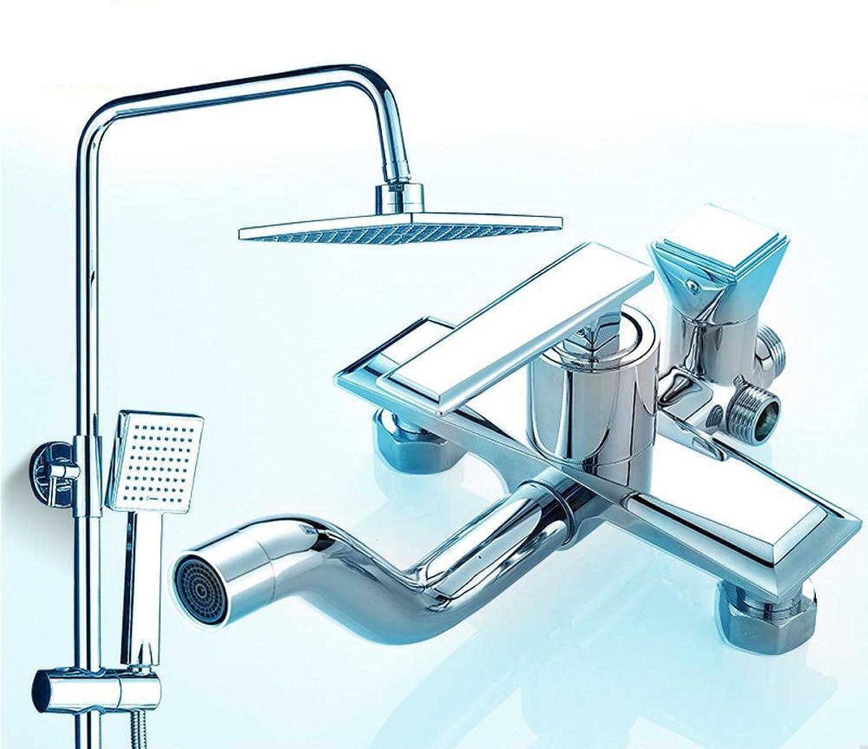 Aoligei Dusche-Sprinkler Set Voll Messing WC Aufzug 3-Duschkabine heien und Kalten Wasserhahn hngenden Wand badezimmerdusche