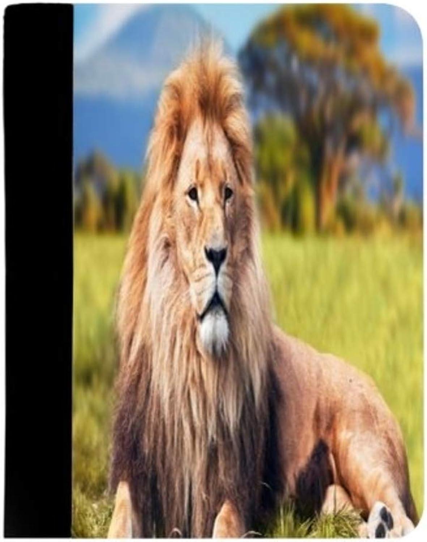 Notizblock, Notizblock, Notizblock, Motiv Löwe sitzend auf Dschungelthron, König des Dschungels, HD Wildleben-Löwe, Tierliebhaber, A4, Schreibmappe, Dokumentenmappe B07KQQ6BTM   Sonderangebot  17593a