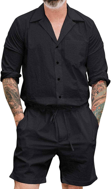 Men'S Pajamas Set Short Sleeve Pajama Sleepwear Black L
