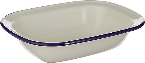 Wiltshire Enamel Oblong Pie Dish 400ml Blue Rim