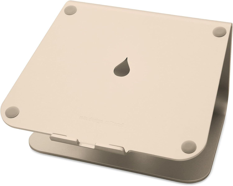 a la venta Rain Design mStand 360 17  oro - Soporte Soporte Soporte de Regazo para portátiles y netbooks (oro, 43,2 cm (17 ), Aluminio, 360°, 253 mm, 190 mm)  forma única